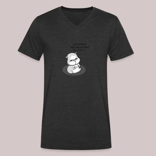 drunk_Hamster - T-shirt ecologica da uomo con scollo a V di Stanley & Stella