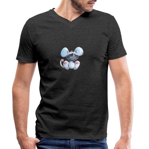 Maskenmaus - Männer Bio-T-Shirt mit V-Ausschnitt von Stanley & Stella