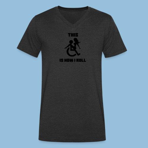 Howiroll9 - Mannen bio T-shirt met V-hals van Stanley & Stella