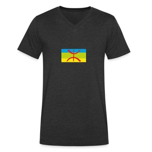 drapeau berbere tamazgha - T-shirt bio col V Stanley & Stella Homme
