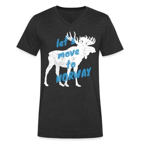 Norwegen Elch Auswandern Umzug Geschenk - Männer Bio-T-Shirt mit V-Ausschnitt von Stanley & Stella