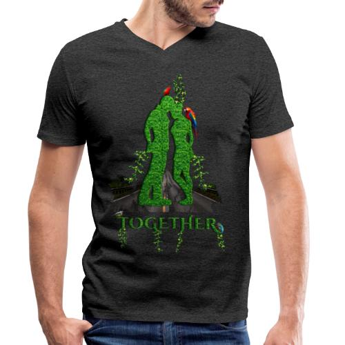Together love nature by T-shirt chic et choc - T-shirt bio col V Stanley & Stella Homme
