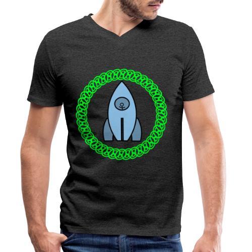 Raumschiff auf dem Weg ins Weltall - Männer Bio-T-Shirt mit V-Ausschnitt von Stanley & Stella