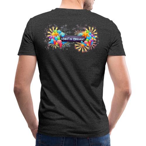 Spirit is Present - T-shirt ecologica da uomo con scollo a V di Stanley & Stella