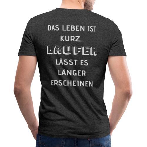 LAUFEN LÄSST DAS LEBEN LÄNGER ERSCHEINEN - Männer Bio-T-Shirt mit V-Ausschnitt von Stanley & Stella