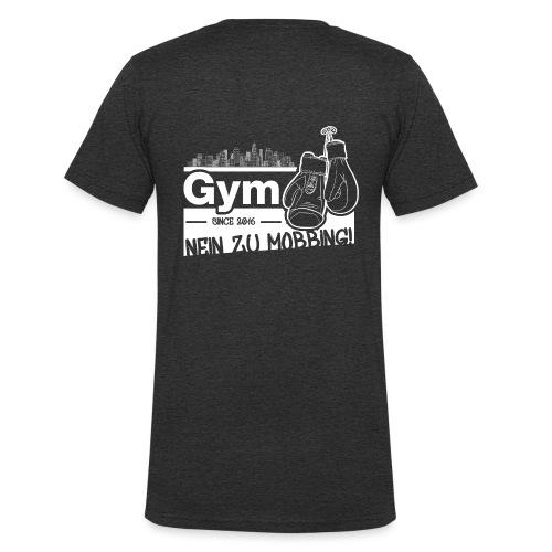 Nein zu Mobbing Men Druckfarbe weiß - Männer Bio-T-Shirt mit V-Ausschnitt von Stanley & Stella