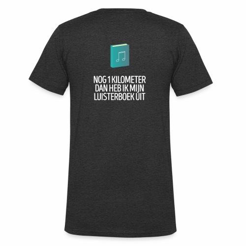 Nog 1 kilometer - luisterboek - fun shirt - Mannen bio T-shirt met V-hals van Stanley & Stella