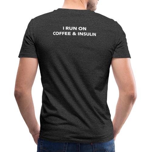 I Run on Coffee & Insulin v2 - Stanley & Stellan miesten luomupikeepaita