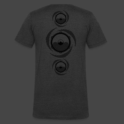 Haut-parleur Noir Spirale - T-shirt bio col V Stanley & Stella Homme