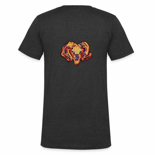 bull on fire medio - Camiseta ecológica hombre con cuello de pico de Stanley & Stella
