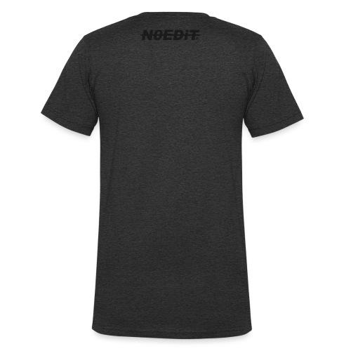 No Edit Black Logo - Men's Organic V-Neck T-Shirt by Stanley & Stella