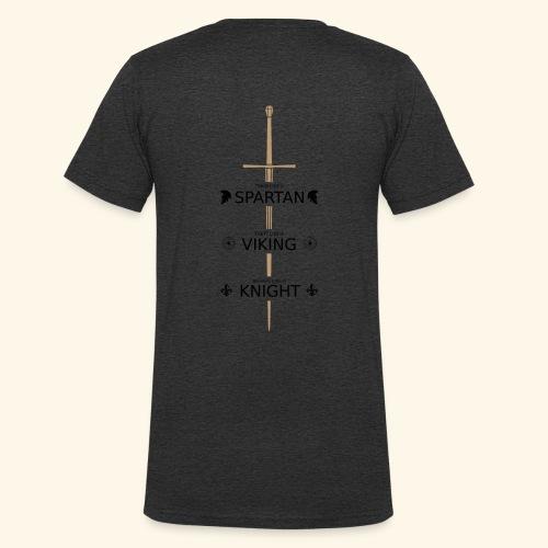 Spartan Viking Knight SCHWARZ - Männer Bio-T-Shirt mit V-Ausschnitt von Stanley & Stella
