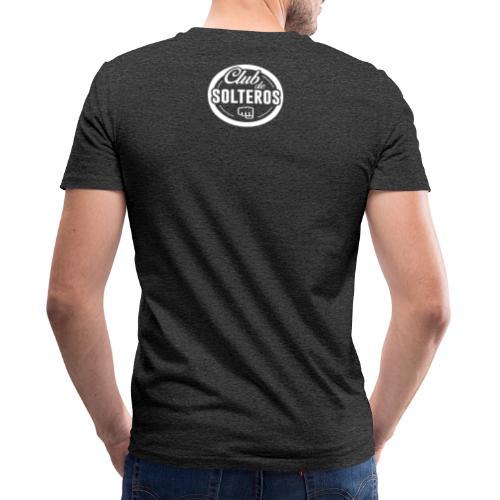 Club de Solteros (logo blanco) - Camiseta ecológica hombre con cuello de pico de Stanley & Stella
