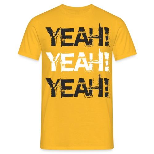 Yeah! white - Männer T-Shirt