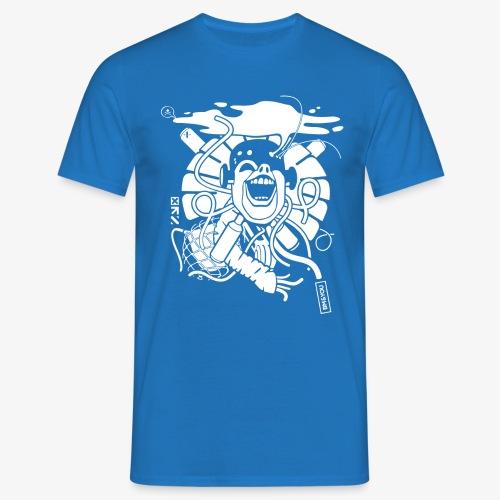 Crazy robot 2 white - Männer T-Shirt