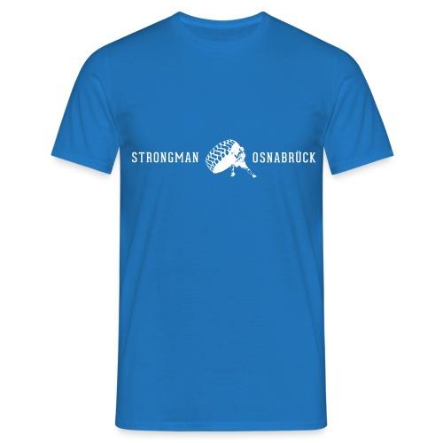 Strongman Logo weiß - Männer T-Shirt