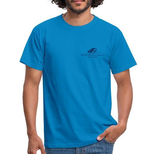 MMOA Logo Blue Marine Fauna Observer on back - Men's T-Shirt