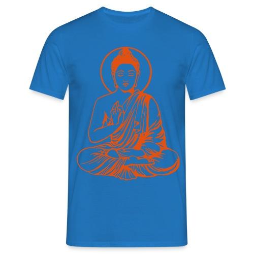 Buddha-Vektor-Outline - Männer T-Shirt