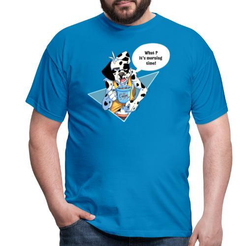Dalmatien avec son café du matin - Men's T-Shirt