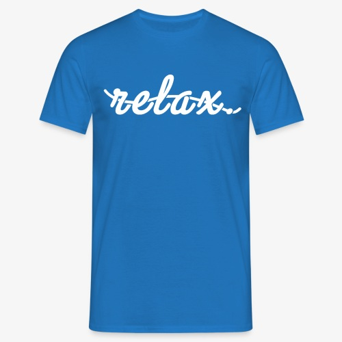 Relax Logo White - Men's T-Shirt