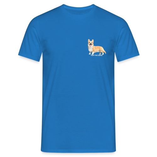 Topi the Corgi - White text - Men's T-Shirt