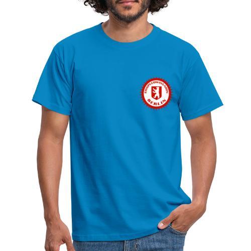 Logo in Rot Weiß - Männer T-Shirt