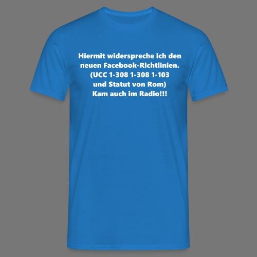 Facebook-AGB - Männer - Männer T-Shirt