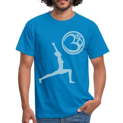 Der Held Yoga Asana Warrior mit OM Symbol Cool - Männer T-Shirt