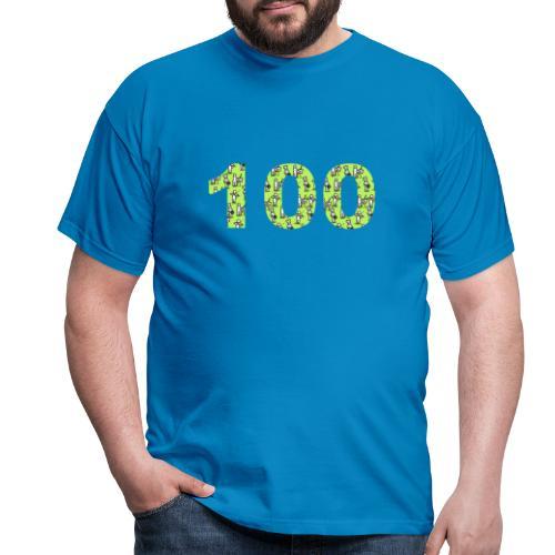 white man 100 followers - Maglietta da uomo