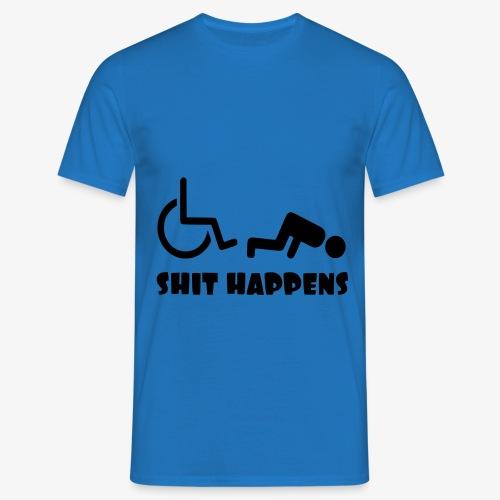 Het zit soms ook tegen in je rolstoel - Mannen T-shirt