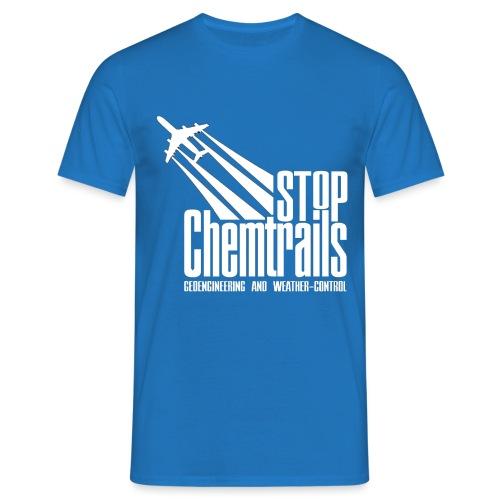 STOP CHEMTRAILS - white print - Mannen T-shirt