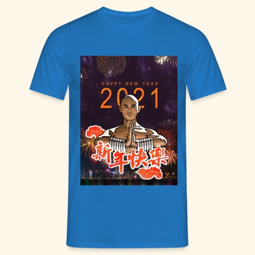 Gordon Liu as SanTe - Warrior Monk - Happy NewYear - Mannen T-shirt