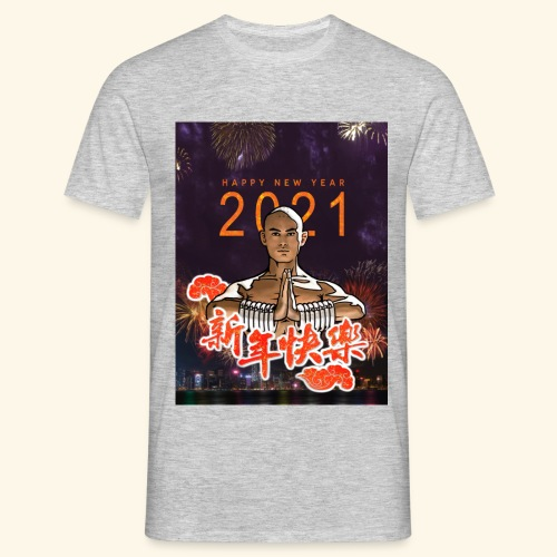 Gordon Liu as SanTe - Warrior Monk - Happy NewYear - Mannen T-shirt