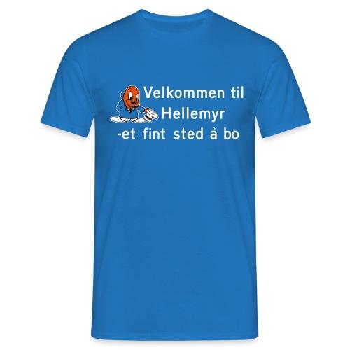 Velkommen til Hellemyr - T-skjorte for menn