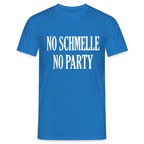 NoSchmelleNoParty White - Männer T-Shirt