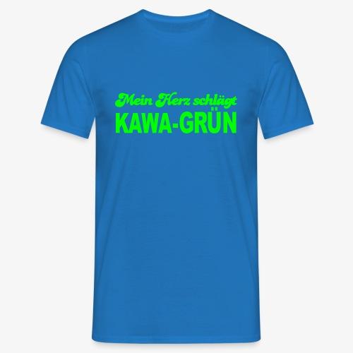Mein Herz schlägt KAWA GRÜN - Männer T-Shirt