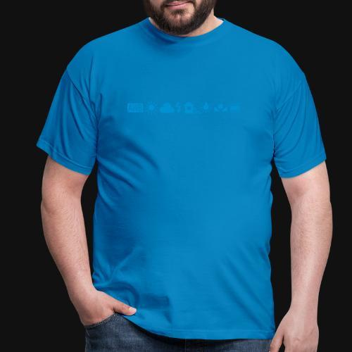 Weissabgleich Symbole Horizontal - Männer T-Shirt
