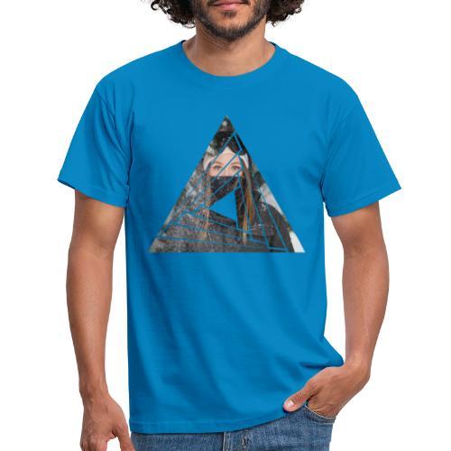 Snow Girl Triangle Graphic Design - Männer T-Shirt