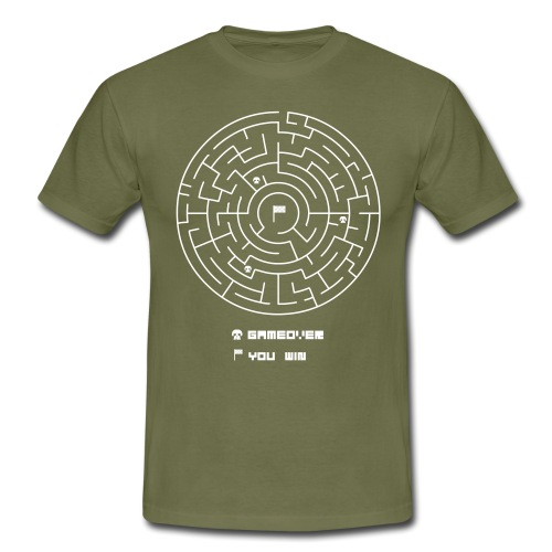 CIRCLE MAZE GAME - Men's T-Shirt