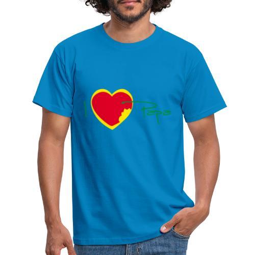 I love papa - Rasta Vert Jaune Rouge - T-shirt Homme