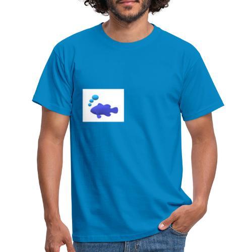Silhouette Pesce - Maglietta da uomo