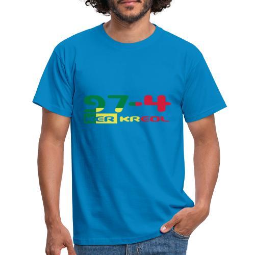 Logo 974 ker kreol VJR, rastafari - T-shirt Homme
