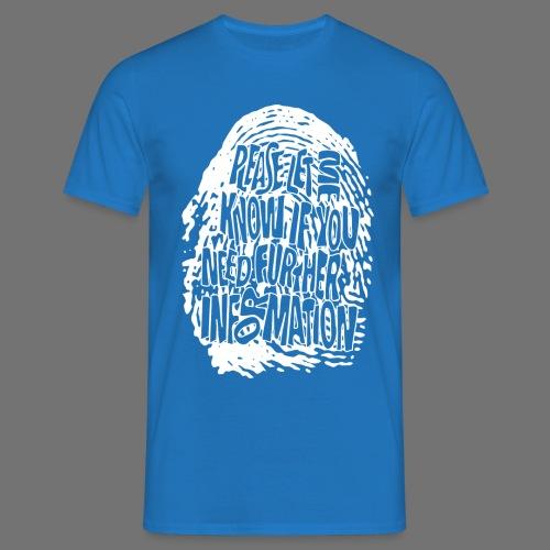 Fingerprint DNA (white) - Men's T-Shirt