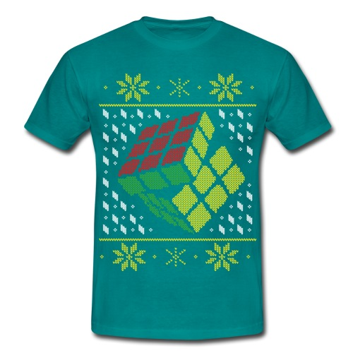 Rubik's Cube Ugly Christmas - Men's T-Shirt