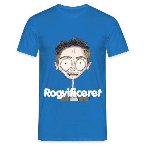 Rogvificeret Merch - Hvid tekst. - Herre-T-shirt