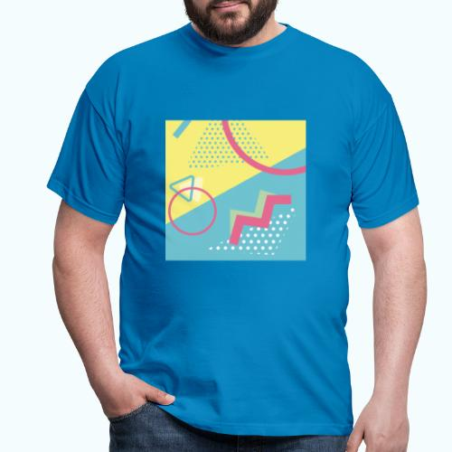 Pastel turquoise geometry - Men's T-Shirt