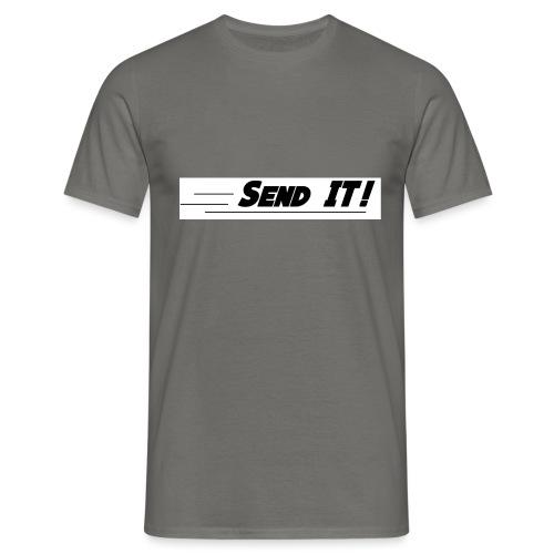 send it logo white - Men's T-Shirt
