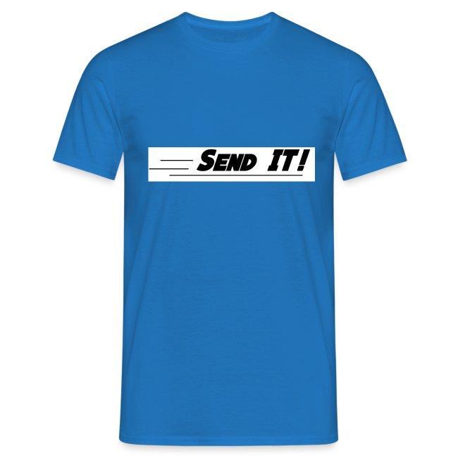 send it logo white