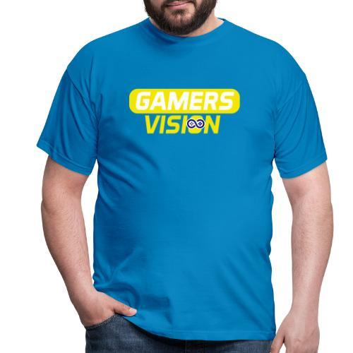 GamersVisionlogogeel - Mannen T-shirt