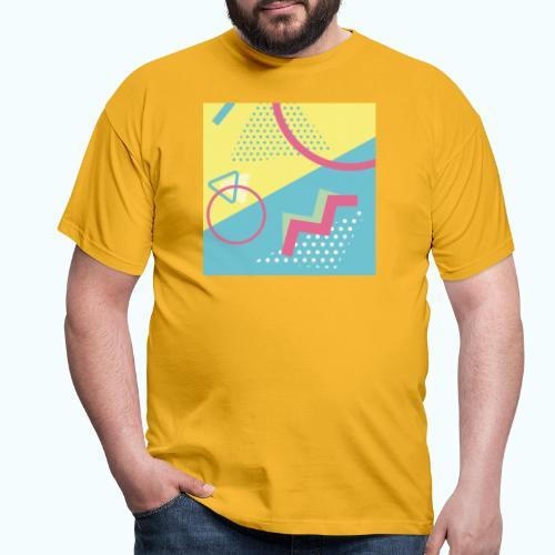 Pastel turquoise geometry - Men's T-Shirt